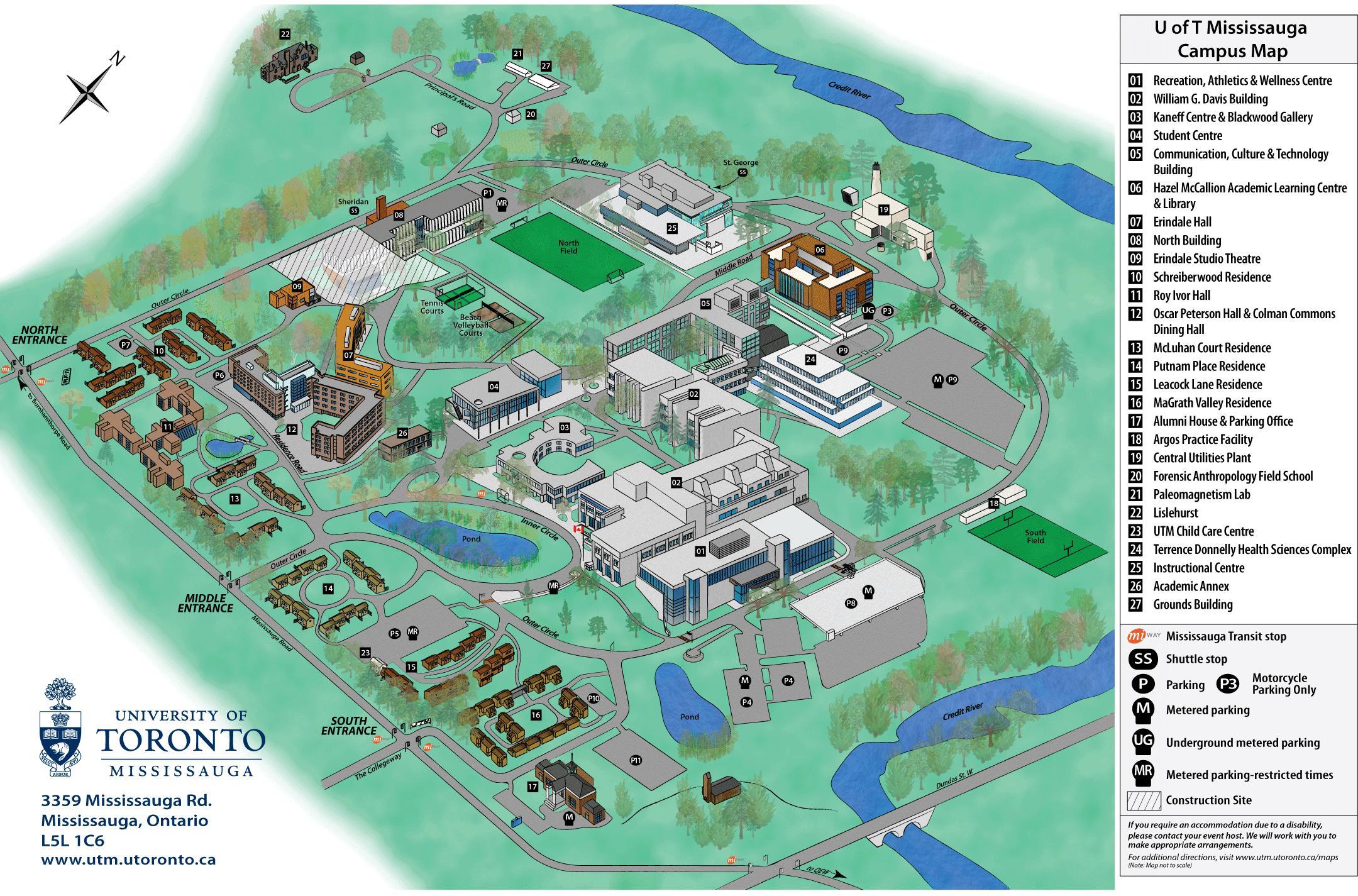 U Of T St George Campus Map