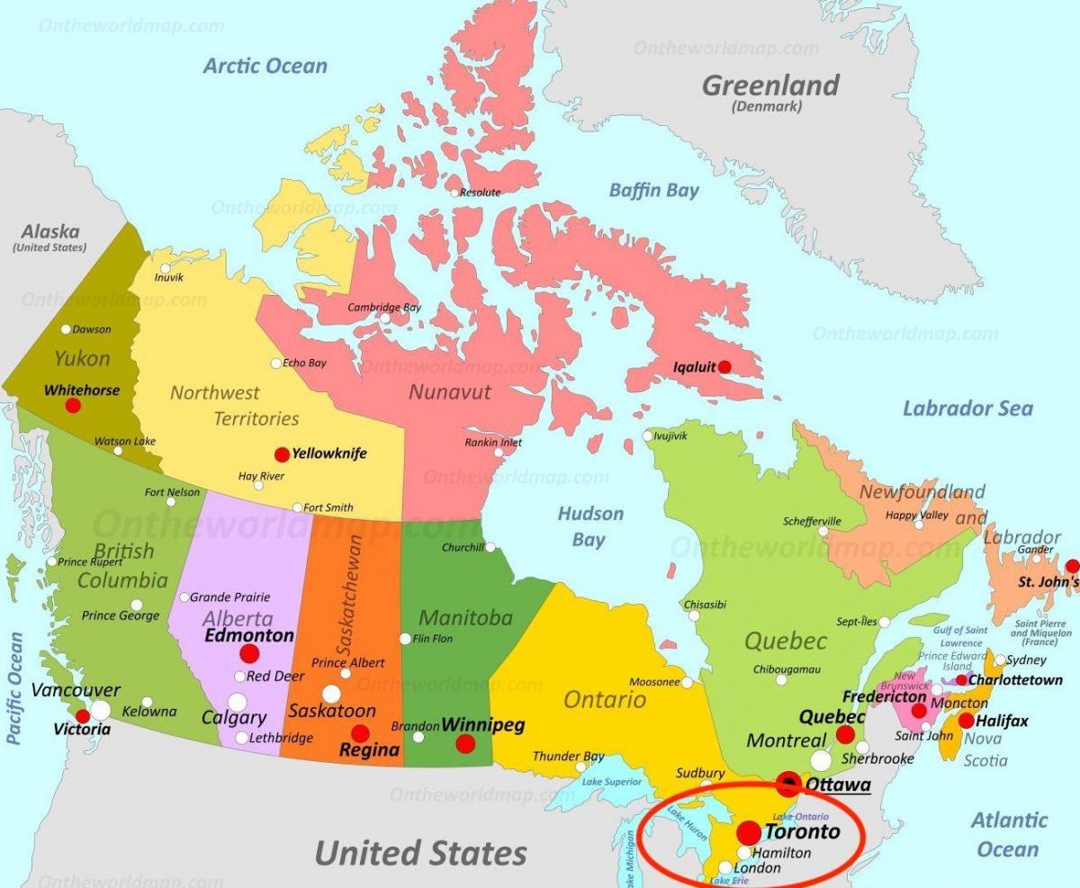 Toronto canada map - Kanada Landkarte in Toronto (Kanada)
